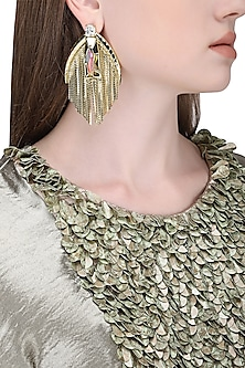 Gold Plated Earrings with Tassels