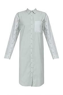 Mint Button Down Shirt Dress