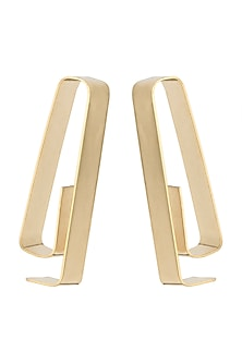 Gold Polish Maze Earrings by One Nought One One