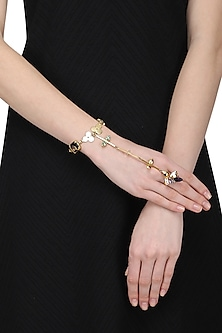 Gold Plated Trellis Hand Harness