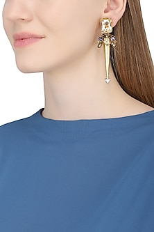Gold Plated Spike Trellis Earrings