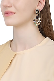 Gold Plated Vinifera Bud Earrings by Ornamas By Ojasvita Mahendru