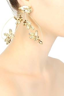 Gold plated firefly earrings