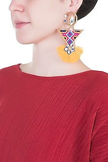 Gold Plated Evil-Eye Long Earrings by Outhouse