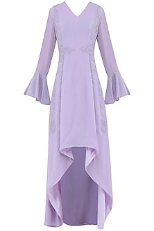 Pastel Purple Embroidered Dress