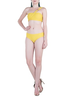 Yellow Hipster Bikini Bottom by Pa.Ni Swimwear