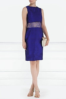Royal blue lace insert dress by PABLE