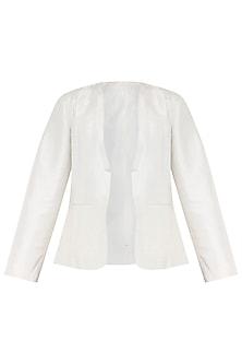 White Silk Jacket by PABLE
