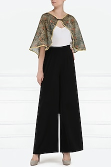 Black Printed Cape by PABLE