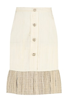 Cream Ruffled Skirt