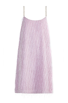 Lilac Feathered Strappy Dress