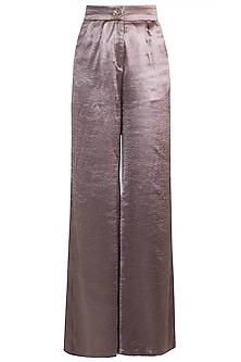 Bronze High-Rise Pleated Pants