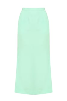 Mint Green Ankle Length Side Slit Skirt     by Priyanka Gangwal
