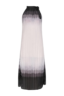 Ivory and Grey Summer Shaded Maxi Dress