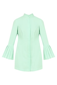 Deep Mint Mermaid Sleeves Dress