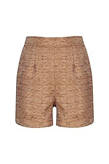 Rust Silk Blend Shorts
