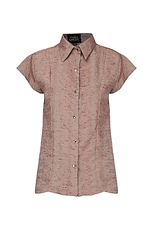 Rust Front Open Shirt