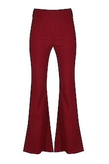 Red Pin Stripes Bell Bottoms