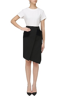 Black Wrap Skirt by Priyanka Gangwal