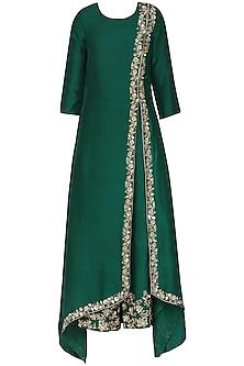 Emerald Green Embroidered Kurta Set