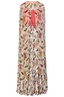 Ivory Crushed Maxi Dress