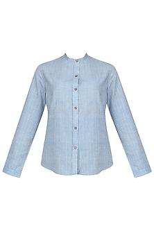 Indigo Mandarin Shirt by Pika Love