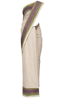 Ivory Linen Saree