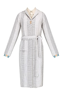 White Stripped Jacket by Pika Love