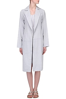 Grey Trench Jacket by Pika Love