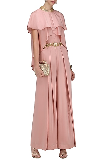 cedd323e8f7d Blush pink embroidered jumpsuit available only at Pernia s Pop Up Shop.