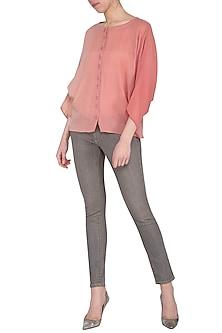 Pink ombre kimono shirt by POULI