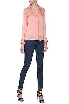 Dusky Pink Button Down Shirt by POULI