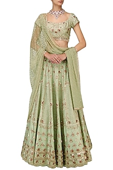 Green Heavy Bridal Lehenga