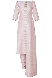 Blush pink embroidered kurta with pants