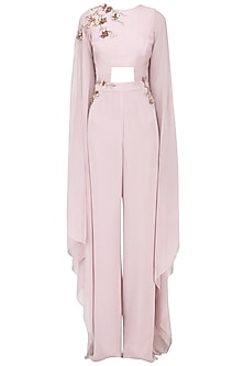 Dusty Lilac Embroidered Jumpsuit