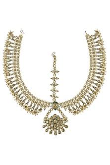 Gold Plated Tulsi Matha Patti by Purab Paschim by Ankit Khullar