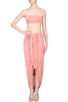 Summer Rose Bandeau and Skirt  by Pernia Qureshi