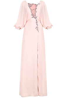 Pale Pink Embroidered Gown