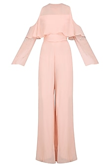 Pale Pink Ruffeled Jumpsuit