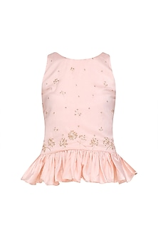 Pale Pink Embroidered Top
