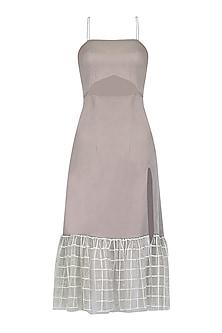 Fog Grey Cut Out Dress