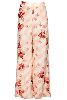 Stripe Flora Printed High-Waist Pants by Pernia Qureshi