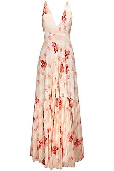 Floral Printed Maxi Dress by Pernia Qureshi