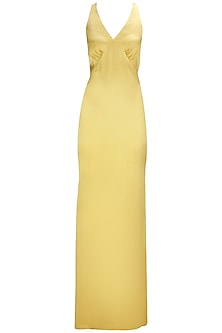 Gold Cross-Over Straps Gown