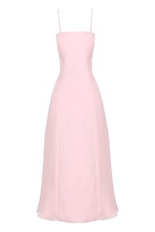 Pink strappy midi dress by PERNIA QURESHI