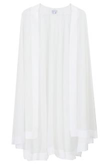White Sheer Cape by Pernia Qureshi