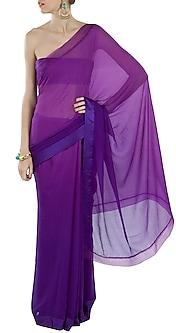 Purple Ombre Sari by Pernia Qureshi