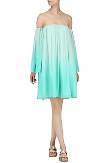 Sea Green Ombre Dress by Pernia Qureshi
