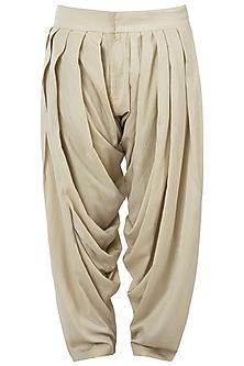 Ivory patiala pants by Pranay Baidya Men