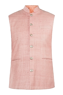 Peach nehru jacket